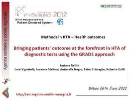 Methods in HTA - Health outcomes Bringing patients' outcome at the forefront in HTA of diagnostic tests using the GRADE approach